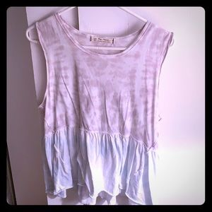 Free people tie dye muscle tank